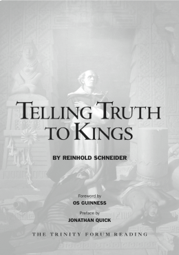 Telling Truth to Kings